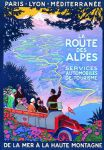 Chic French Shabby Route des Alpes Alps Driving Metal Sign Plaque Gift